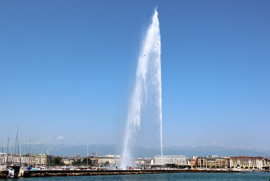 fountain jet deau live webcam geneva switzerland
