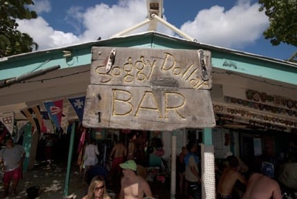 Soggy Dollar Beach Bar